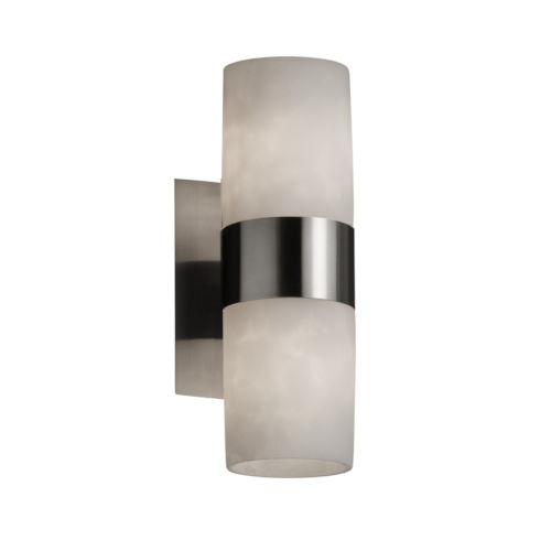 Clouds Brushed Nickel Two-Light LED Wall Sconce