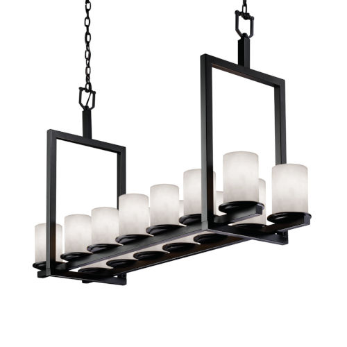 Clouds Matte Black 14-Light LED Chandelier