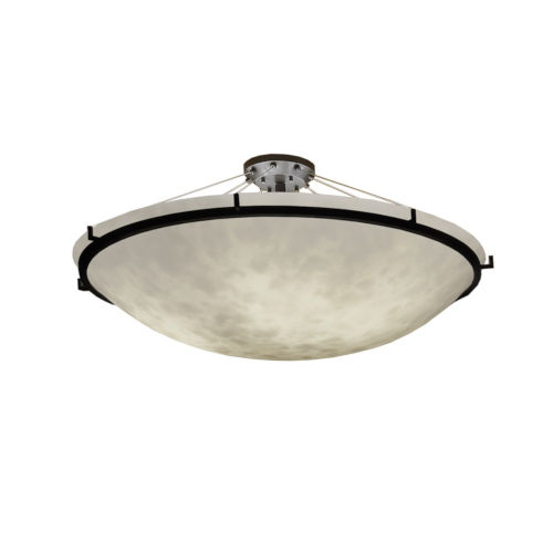 Clouds Dark Bronze Six-Light LED Round Semi-Flush Mount