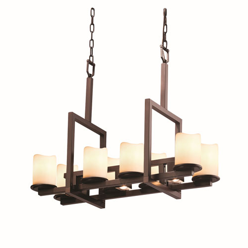 CandleAria Dakota Dark Bronze Eight-Light Chandelier