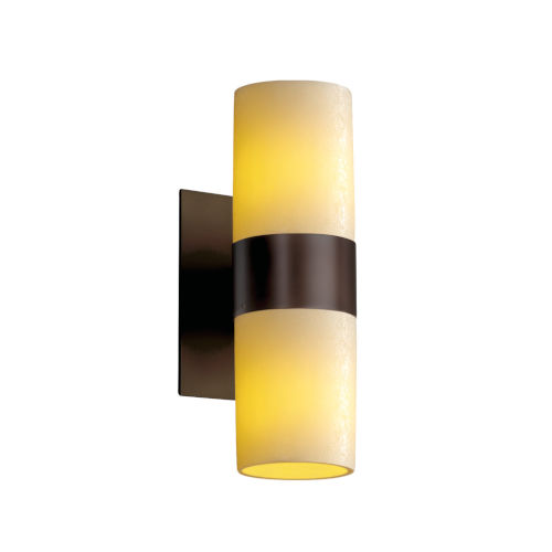 CandleAria Dark Bronze and Cream Two-Light LED Wall Sconce