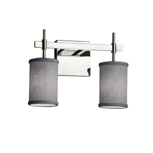 Textile Union Polished Chrome and Gray Two-Light LED Bath Vanity