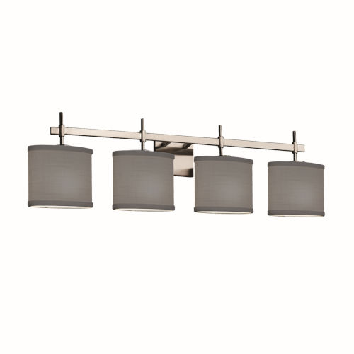 Textile Union Brushed Nickel and Gray Four-Light Bath Vanity