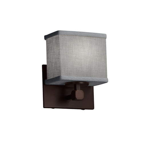 Textile Tetra Dark Bronze and Gray LED Wall Sconce