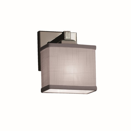Textile Regency Brushed Nickel and Gray LED Wall Sconce
