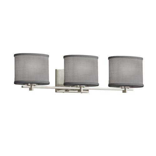 Textile Era Brushed Nickel and Gray Three-Light LED Bath Vanity