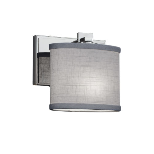 Textile Era Polished Chrome and Gray LED Wall Sconce