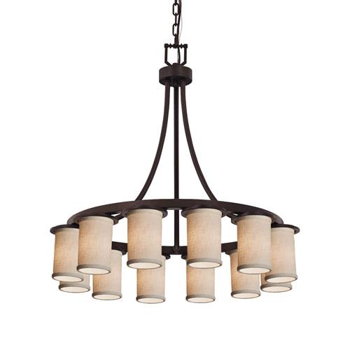 Textile Dakota Dark Bronze 12-Light LED Chandelier