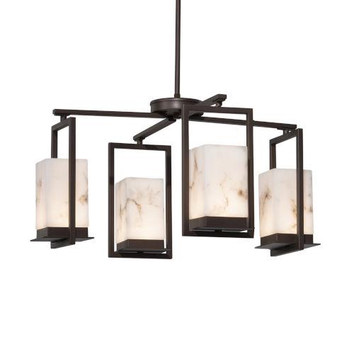 LumenAria Dark Bronze Four-Light LED Chandelier