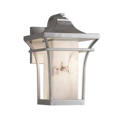 LumenAria Summit Brushed Nickel One-Light Small Outdoor Wall Sconce