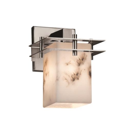LumenAria Metropolis Brushed Nickel One-Light Wall Sconce