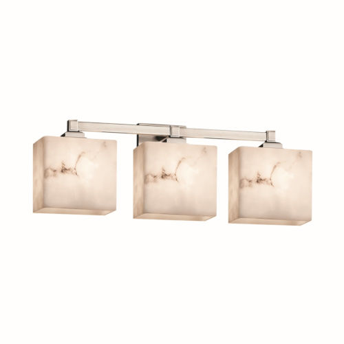 LumenAria Brushed Nickel Three-Light Bath Vanity