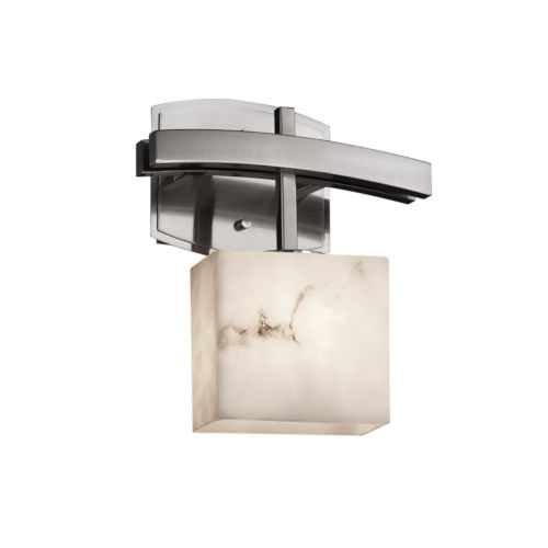 LumenAria Archway Brushed Nickel One-Light Wall Sconce