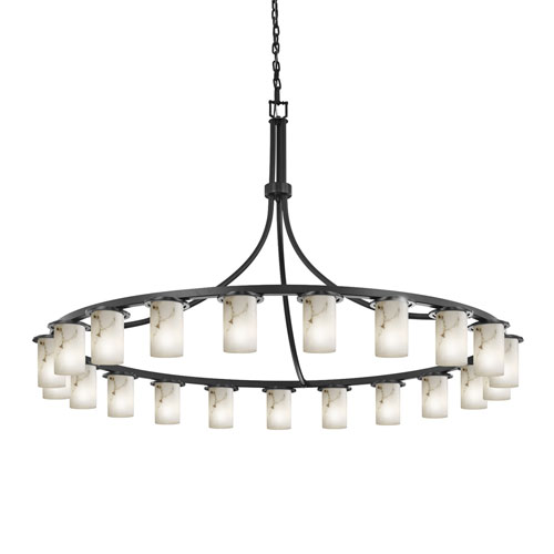 LumenAria Dakota Matte Black 21-Light Chandelier
