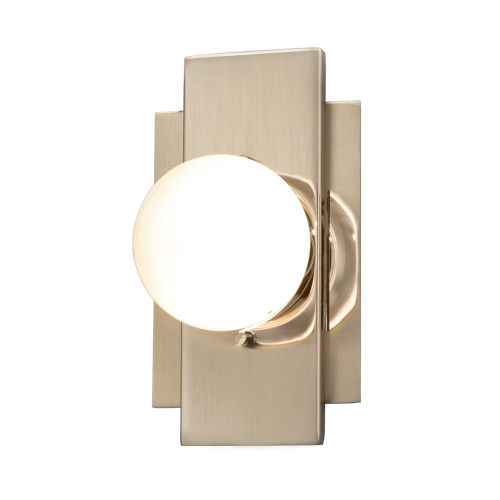Fusion Brushed Brass LED Wall Sconce