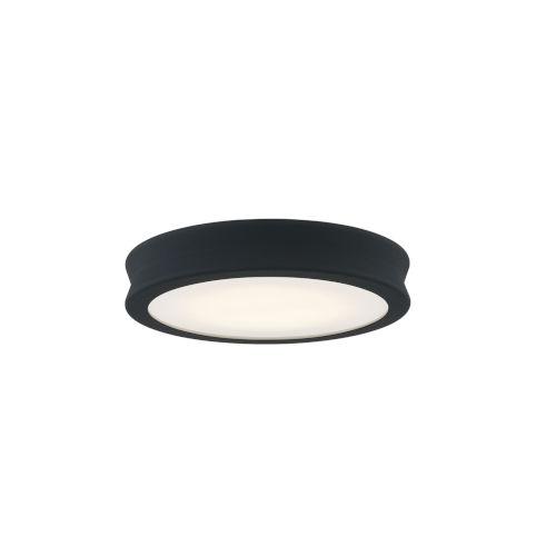 Fusion Bevel Matte Black LED Flush Mount