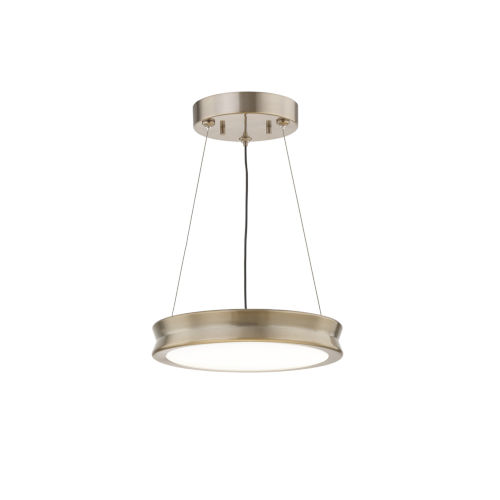 Fusion Bevel Brushed Brass LED Mini Pendant