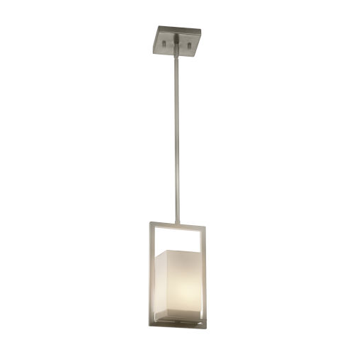 Fusion Brushed Nickel LED Mini Pendant with Opal Glass