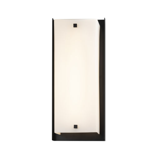 Fusion Matte Black LED Outdoor Wall Mount