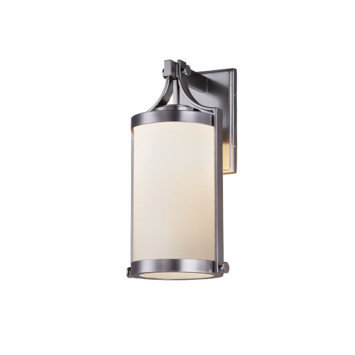 Fusion Brushed Nickel One-Light Outdoor Wall Mount