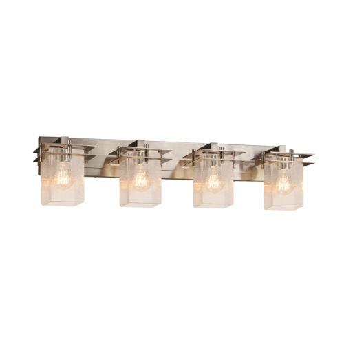 Fusion Metropolis Brushed Nickel Four-Light LED Bath Vanity