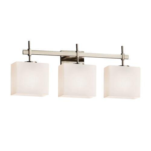 Fusion Union Brushed Nickel Three-Light LED Bath Vanity