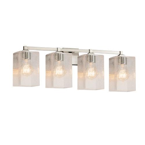 Fusion Regency Brushed Nickel Four-Light LED Bath Vanity