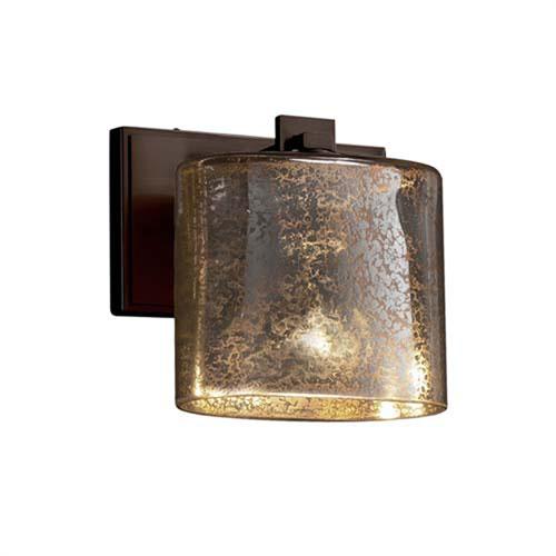 Fusion - Era Polished Chrome One-Light Wall Sconce with Oval Mercury Glass Shade