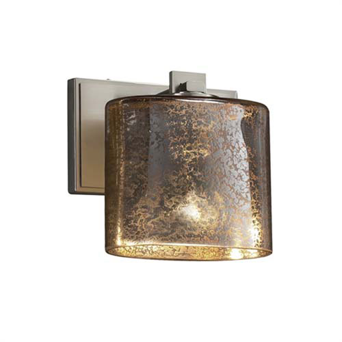 Fusion - Era Brushed Nickel One-Light Wall Sconce with Oval Mercury Glass Shade