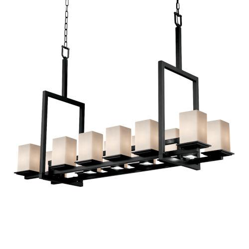 Fusion Montana Matte Black Five-Light LED Chandelier