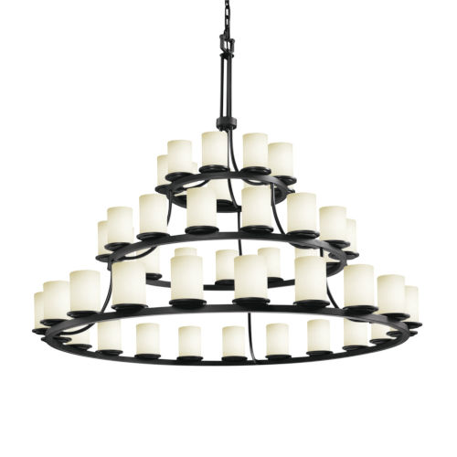 Fusion Matte Black 45-Light LED Chandelier