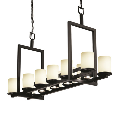 Fusion Dakota Matte Black Five-Light LED Chandelier