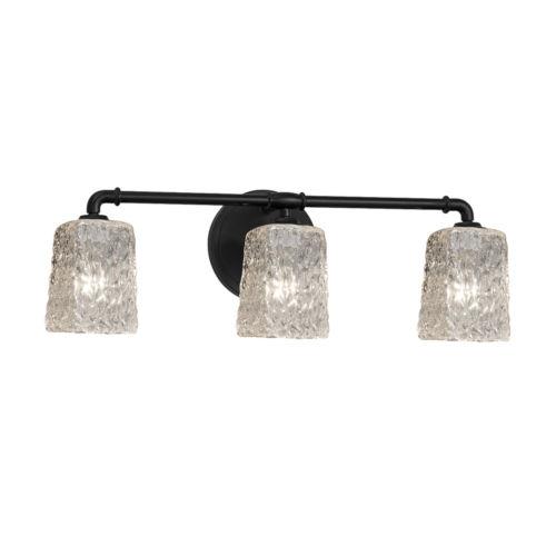 Veneto Luce Matte Black Three-Light LED Bath Vanity