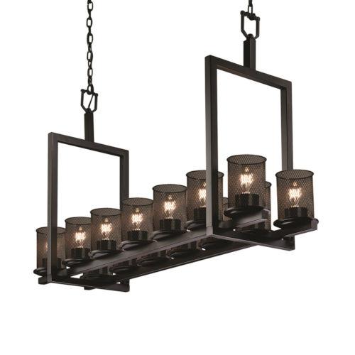 Wire Mesh Dakota Matte Black 14-Light Chandelier
