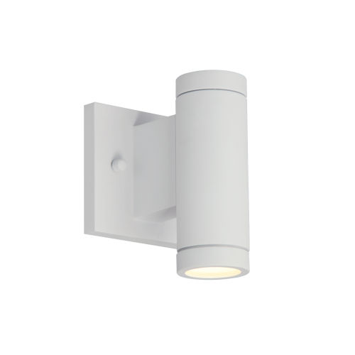 Portico Matte White LED Outdoor Wall Mount