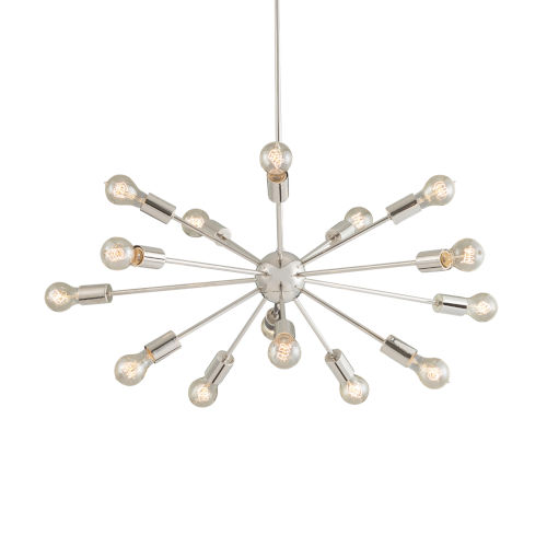 Axion Polished Chrome 15-Light Chandelier