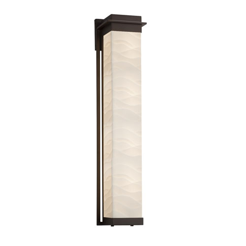 Porcelina Pacific Dark Bronze LED Outdoor Wall Sconce