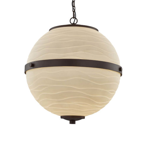 Porcelina - Imperial Dark Bronze 17-Inch Three-Light LED Chandelier