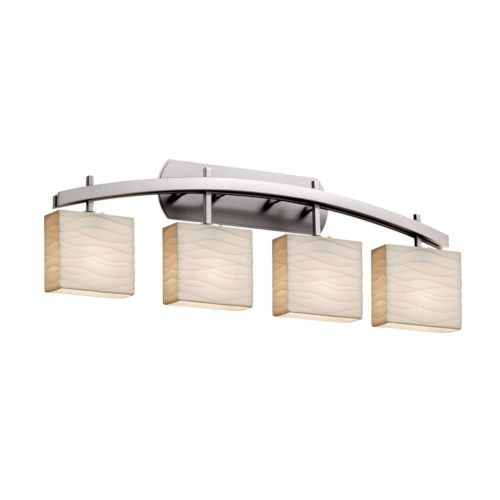 Porcelina Archway Brushed Nickel Four-Light LED Bath Vanity