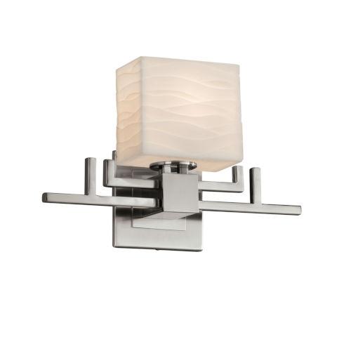 Porcelina Aero Brushed Nickel One-Light Wall Sconce