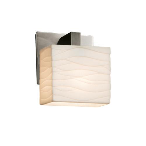 Porcelina Modular Brushed Nickel LED Wall Sconce