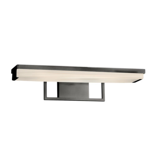 Porcelina Matte Black LED Bath Bar