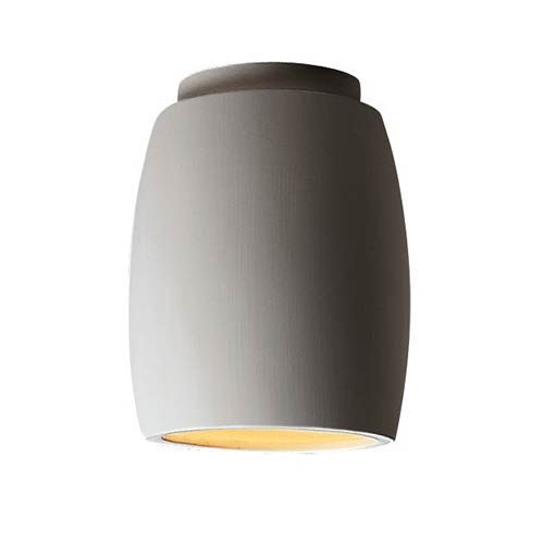 Radiance Bisque LED Curved Outdoor Flush Mount