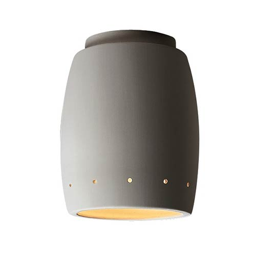 Radiance Bisque LED Curved Outdoor Flush Mount with Perforations