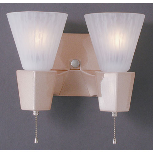 Justice Design Group Geo Rectangular Double Arm Wall Sconce Cer 7012