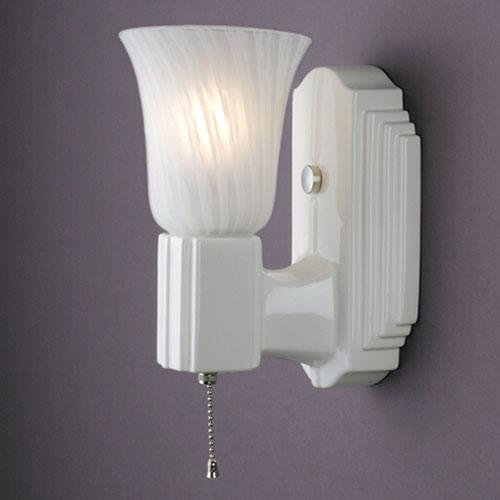 Deco Rectangle Uplight Sconce