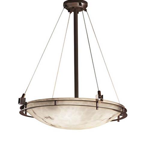 Justice Design Group LumenAria Dark Bronze Six-Light 24-Inch Round Bowl Pendant