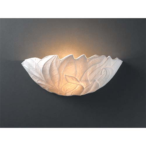 Leaves Porcelain Wall Sconce