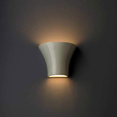 Ambiance Small Flared Green Wall Sconce