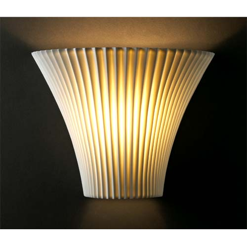 Large Pleated Porcelain Sconce